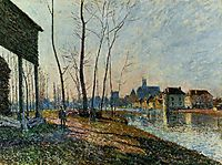 A February Morning at Moret sur Loing, 1881, sisley