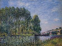 Spring on the Loing River, 1885, sisley
