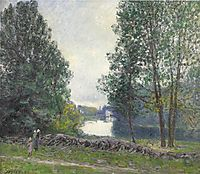 A Turn of the River Loing, Summer, 1896, sisley