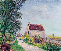 The village of Sablons, 1885, sisley