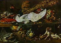 Still-Life with a Dog and Her Puppies, snyders