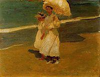 On the beach, sorolla