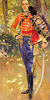 Portrait of King Alfonso XIII in the uniform of the hussars, 1907, sorolla