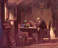 A visit, c.1850, spitzweg