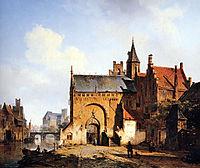 Fantasy cityview of Maassluis, springer