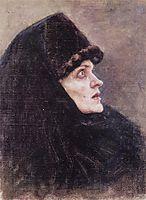 Head of Boyarynya Morozova (study), 1886, surikov