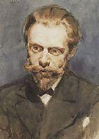 Portrait of N. S. Matveev, 1881, surikov