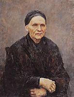 Portrait of P. F. Surikova (Artist-s Mother), 1887, surikov