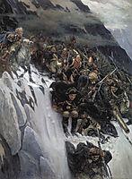 Russian Troops under Suvorov Crossing the Alps, 1899, surikov