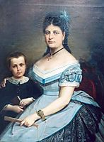 Painter-s wife and his son, tattarescu