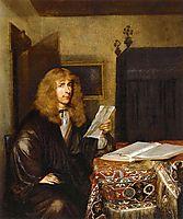 Portrait of a Man Reading, c.1675, terborch