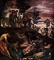 The Miracle of the Loaves and Fishes, 1581, tintoretto