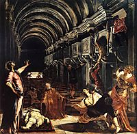 Saint Mark performing many miracles, 1562-66, tintoretto