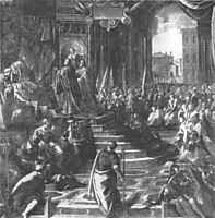 The Venetian ambassador to Barbarossa, tintoretto