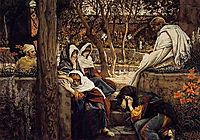 Jesus at Bethany, 1894, tissot