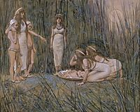 Pharaoh-s Daughter Receives the Mother of Moses, c.1902, tissot
