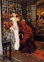 Young Women Looking at Japanese Objects, 1869, tissot