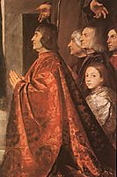 Madonna with Saints and Members of the Pesaro Family, detail 1, 1519-1526, titian