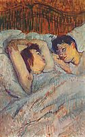 In Bed, 1892, toulouselautrec