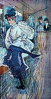 Jane Avril Dancing, 1892, toulouselautrec