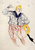 The Sailor s Sopng, at the Star , Le Havre, 1899, toulouselautrec