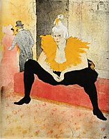 They Cha U Kao, Chinese Clown, Seated, 1896, toulouselautrec