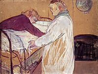 Two Women Making the Bed, 1891, toulouselautrec