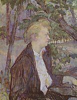 Woman in the Garden, 1891, toulouselautrec