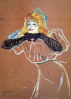 Yvette Guibert singing, 1894, toulouselautrec
