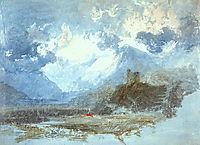 Dolbadern Castle, 1799, turner