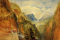 Mont Blanc from Fort Roch, Val D-Aosta, turner