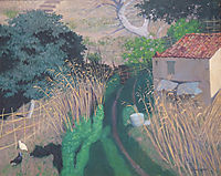 Houses and reeds, 1924, vallotton