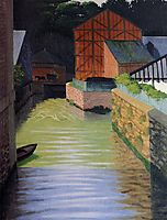 Part of the Town of Pont Audemer, 1922, vallotton