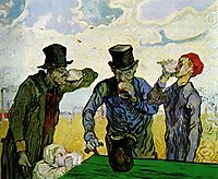 The Drinkers (after Daumier), 1890, vangogh
