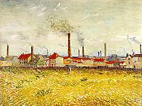 Factories at Asnieres, Seen from the Quai de Clichy , 1887, vangogh