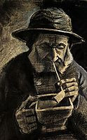Fisherman with Sou-wester, Pipe and Coal-pan, 1883, vangogh
