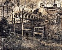 The Garden of the Parsonage with Arbor, 1881, vangogh