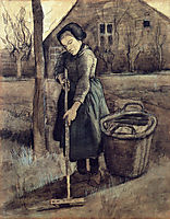 A Girl Raking , 1881, vangogh