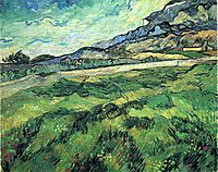 The Green Wheatfield behind the Asylum, 1889, vangogh