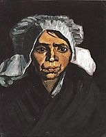 Head of a Peasant Woman with White Cap, 1884, vangogh