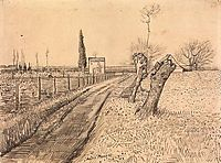 Landscape with Path and Pollard Trees, 1888, vangogh