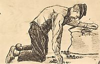 Man Putting Potatoes in a Sack, 1881, vangogh