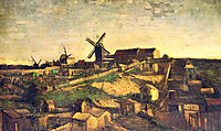 Montmartre the Quarry and  Windmills , 1886, vangogh