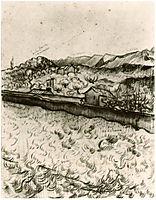 Mountain Landscape Seen across the Walls 2, 1889, vangogh