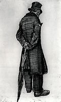 Orphan Man with Umbrella, Seen from the Back, 1882, vangogh