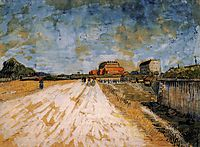 Road Running Beside the Paris Ramparts, 1887, vangogh