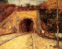 Roadway with Underpass The Viaduct, vangogh