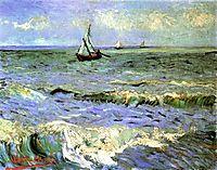 Seascape at Saintes-Maries, 1888, vangogh