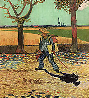 Selfportrait on the Road to Tarascon (The Painter on His Way to Work) , vangogh