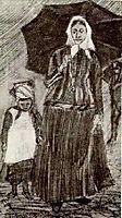 Sien under Umbrella with Girl, 1882, vangogh